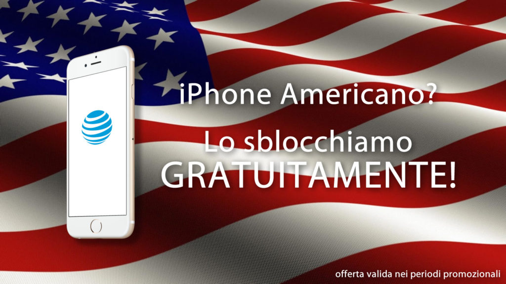 Offerta Sblocco iPhone Americano AT&T